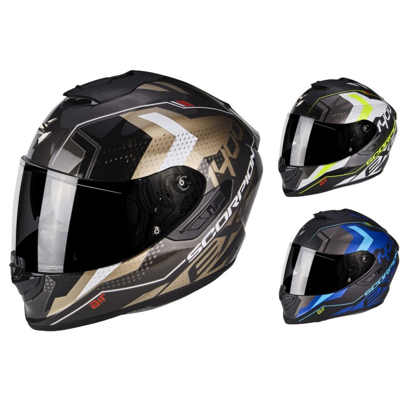 scorpion exo 1400 air trika full face helmet 369 90. Black Bedroom Furniture Sets. Home Design Ideas